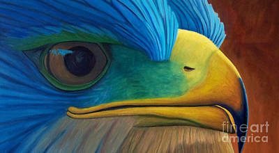 Eagle Painting - Eye On The Prize by Brian  Commerford