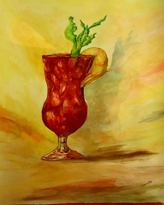Bloody Mary Painting - Eye Opener by Jacquie King