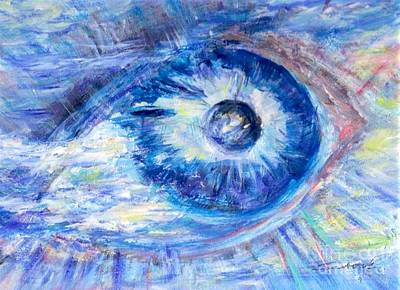 Painting - Eye To The World by Mary Sedici