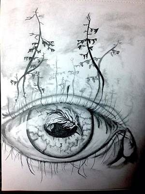 Eye Lashes Drawing - Eyeland by Joe Butler jr