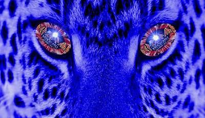 Def Leppard Digital Art - Eyes Of The Leppard by Luisa Gatti