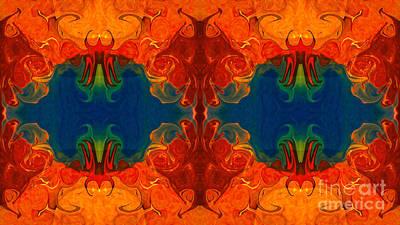 Eyes On The Future Abstract Design Artwork By Omaste Witkowski  Print by Omaste Witkowski