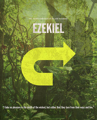Ezekiel Books Of The Bible Series Old Testament Minimal Poster Art Number 26 Print by Design Turnpike