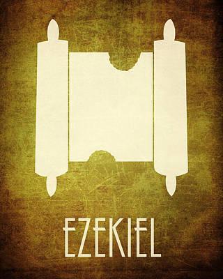 Old Testament Digital Art - Ezekiel Icon Bible Minimal Art by Brett Pfister