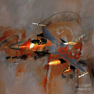 Lockheed Aircraft Painting - F 16 Art  by Gull G