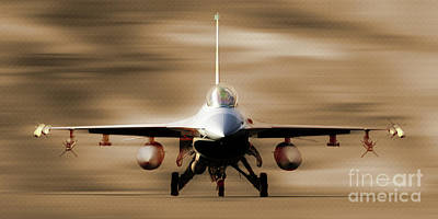 Lockheed Aircraft Painting - F 16 Fighting Falcon 012 by Gull G