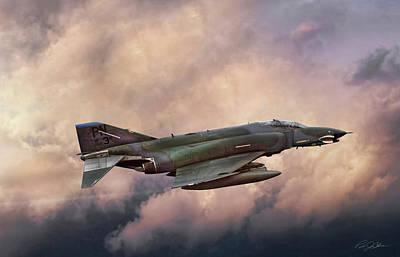 Mcdonnell Digital Art - F-4e Phantom Sea by Peter Chilelli