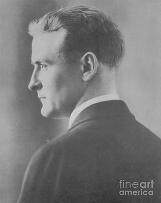 F. Scott Fitzgerald, American Author Print by Photo Researchers