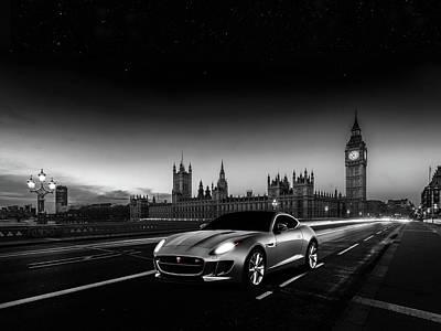 London Photograph - F-type In London by Mark Rogan
