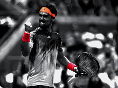 Us Open Mixed Media - Fabio Fognini by Brian Reaves