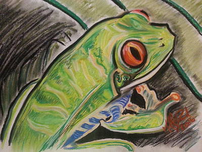 Fabled Tree Frog Original by Michael David