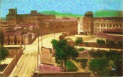 Barcelona Drawing - Fabra I Coats De Sant Andreu 1920 by Joaquin Abella
