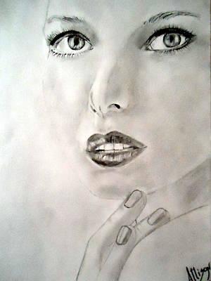 Eye Lashes Drawing - Fabulous by Allison Jones