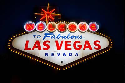 Chance Photograph - Fabulous Las Vegas Sign by Steve Gadomski