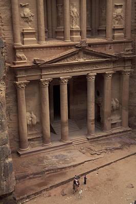 Facade Of The Treasury In Petra, Jordan Print by Richard Nowitz