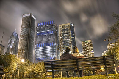 Face In The Clouds At Millennium Park Print by Jeramie Curtice