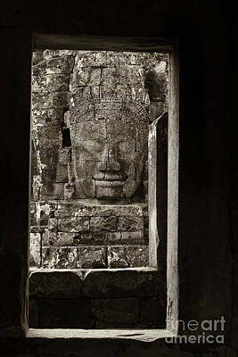 Angkor Photograph - Face Of The Past by Hitendra SINKAR