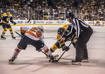 Bruins Photograph - Face Off by Jason Stockwell