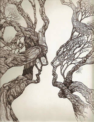 Face Tree 11 Print by Brian Kirchner