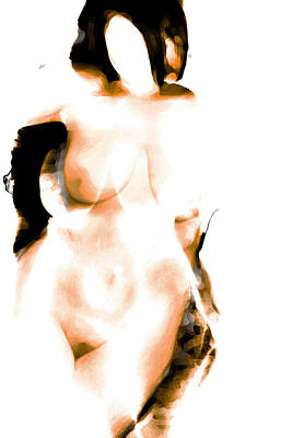 Nude Digital Art - Faceless by James Barnes