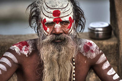 India Babas Photograph - faces of India by Joana Kruse