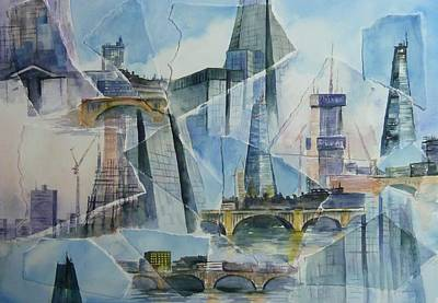 Shards Painting - Faces Of The Shard by Denise Allen