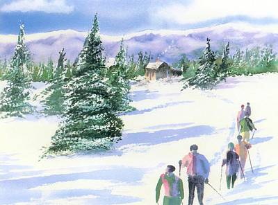 Cross-country Skiing Painting - Facing North by Joseph Gallant