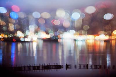 Miniature Nyc Photograph - Facing The City by Daniel Lih
