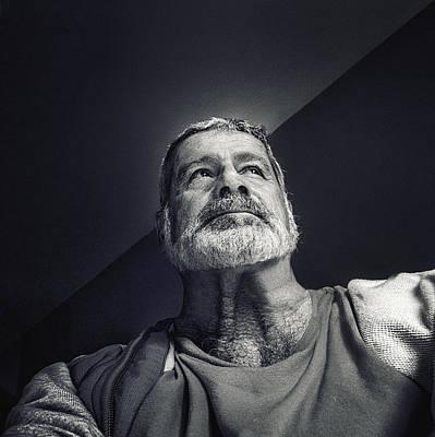 Selfie Photograph - Facing The Light by Piet Flour