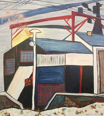 Ma. Mass Painting - Factory by Suzanne  Marie Leclair