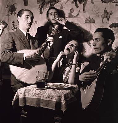 Fado Singer In Portuguese Night Club Print by Everett