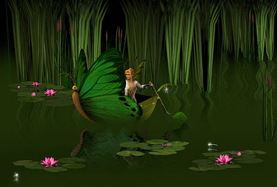 Sylph Digital Art - Faerie Pond by David Griffith