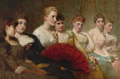 George Elgar Hicks Painting - Fair Critics by George Elgar Hicks