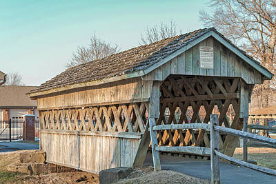 Fairgrounds Covered Bridge Print by Jack R Perry