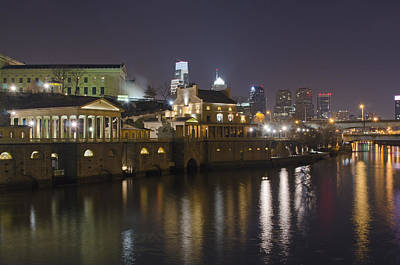 Philadelphia Skyline Photograph - Fairmount Water Works - Philadelphia  by Brendan Reals