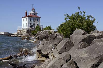 Fairport Harbor Lighthouse Print by Ann Bridges