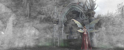 Ball Gown Digital Art - Fairy Gate by Brainwave Pictures