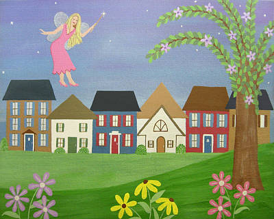 Girl Painting - Fairy Godmother by Samantha Shirley