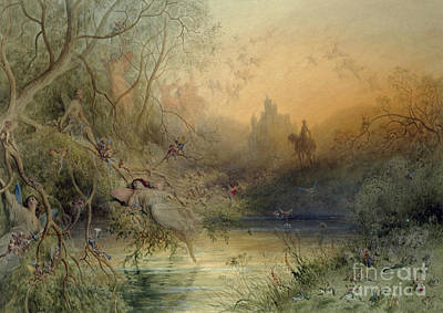 Wood Castle Painting - Fairy Land by Gustave Dore