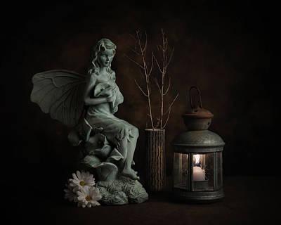 Magical Photograph - Fairy With Lilies by Tom Mc Nemar