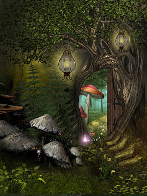 Sylph Digital Art - Fairy Woods by David Griffith