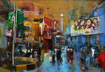 Polo Painting - Faisalabad 1 by Maryam Mughal