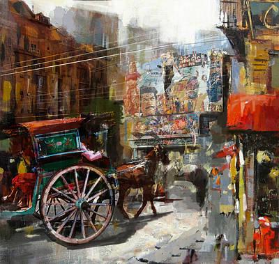Polo Painting - Faisalabad 8 by Maryam Mughal