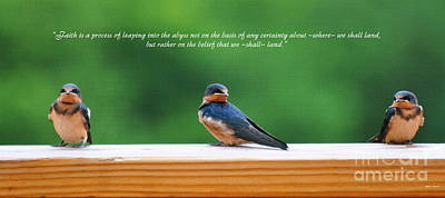 Baby Bird Digital Art - Faith Is by Diane E Berry