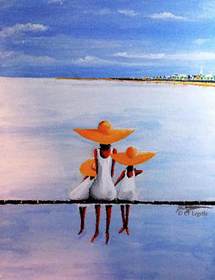 Painting - Faith Love Hope Dockside by C F  Legette