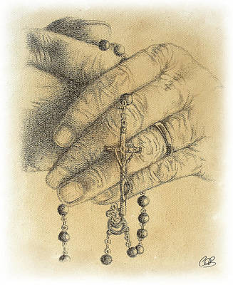 Religious Artist Drawing - Faith Never Grows Old by Conor OBrien