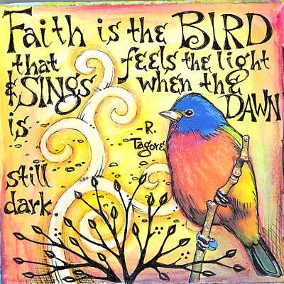 Bunting Mixed Media - Faith by Vickie Hallmark