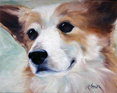 Puppies Painting - Faithful Friend by Mary Sparrow