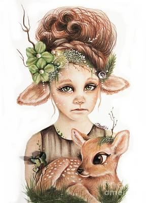 Companion Drawing - Faline - Only Friend In The World Collection by Sheena Pike
