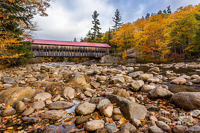 Covered Bridge Photograph - Fall At Albany Covered Bridge by Scott Patterson